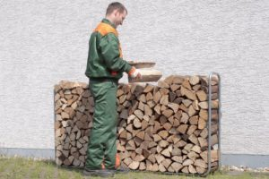 Brennholz Stapelhilfe